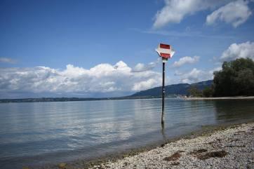 Avant le retour en France, petite baignade dans le Bodensee ou lac de Constance pour finir les vacances