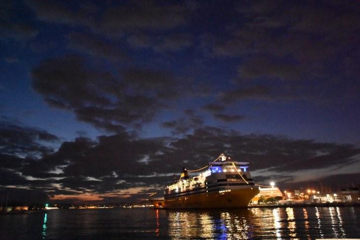 Notre maison flottante pour les 15 prochaines heures, embarquement à Toulon direction Porto Torres
