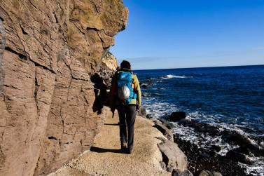 Direction la grotte de Biddiriscottai pour la première séance de grimpe de l'année