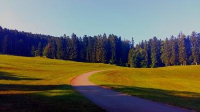 départ de Trémoins pour le point de ralliement dans la vallée d'Aoste avec une nuit à côté de Bulle en Suisse. à 1 minute 30 montre en main de la sortie de l'autoroute.