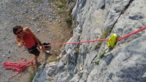 Une petite merveille qui permet d'absorber le poids d'un grimpeur un peu plus lourd.