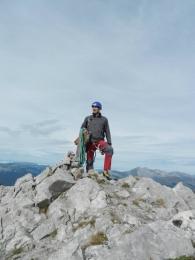 Au sommet avec une belle vue sur le Mt Blanc